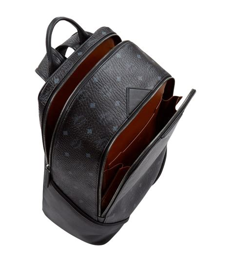 Rabbit Backpack In Visetos Black mcm medium duke visetos backpack in black lyst