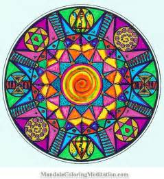 color mandala mandalas coloring on mandalas mandala