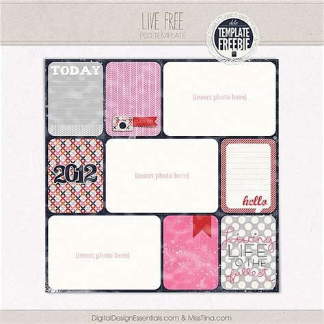 free scrapbooking templates to 17 free digital scrapbook template psd images free