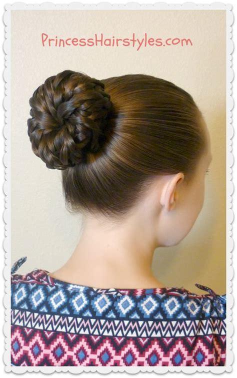 cute hairstyles princess easy hairstyle tutorial pinwheel bun shortcut princess