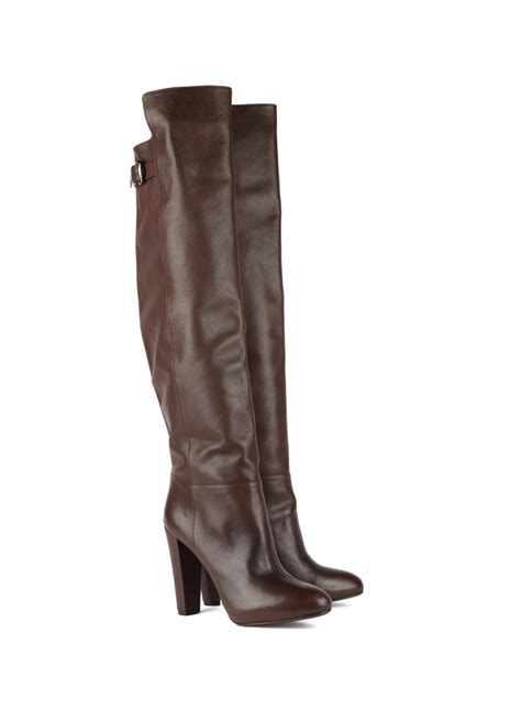Brown Leather L Tank L Enfant Terrible Brown Leather Overknee Boots