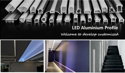 aluminium extrusions for led lighting recessed flat frosted diffuser pc cover aluminum led