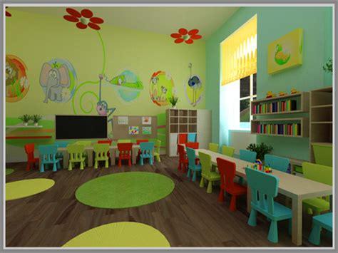 gambar denah ruang kelas tk kesan cerah ceria di ruang kelas