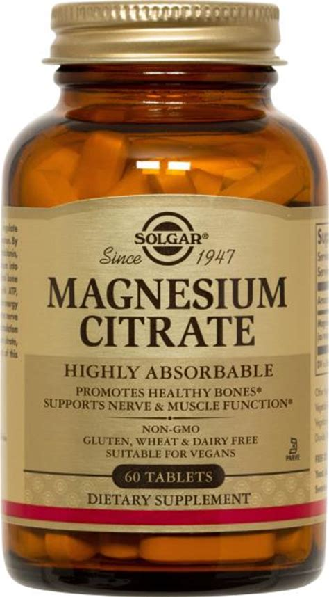 Magnesium Citrate Also Search For Magnesium Citrate Tablets Solgar Vitamins Minerals And Herbs