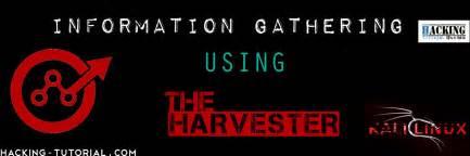 tutorial information gathering kali linux information gathering using theharvester in kali linux
