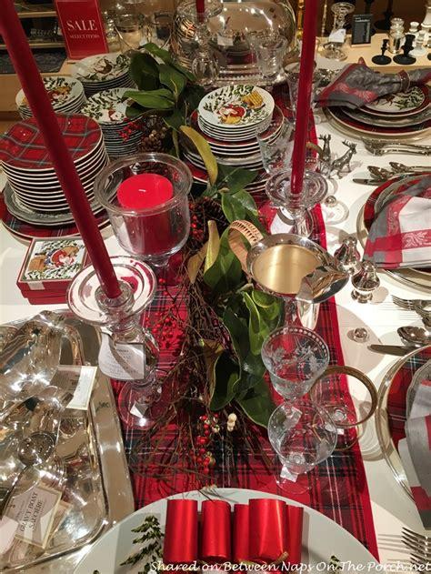 how to set a christmas table tartan christmas table setting vintage style