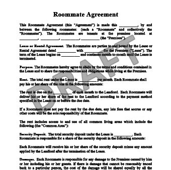 Create A Roommate Agreement Legal Templates Roommate Agreement Nyc Template