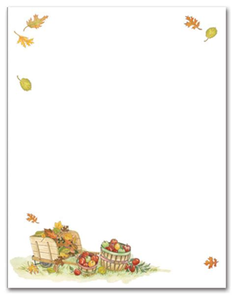 printable thanksgiving stationery 5 best images of harvest printable stationery free