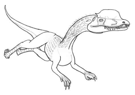 dilophosaurus coloring pages