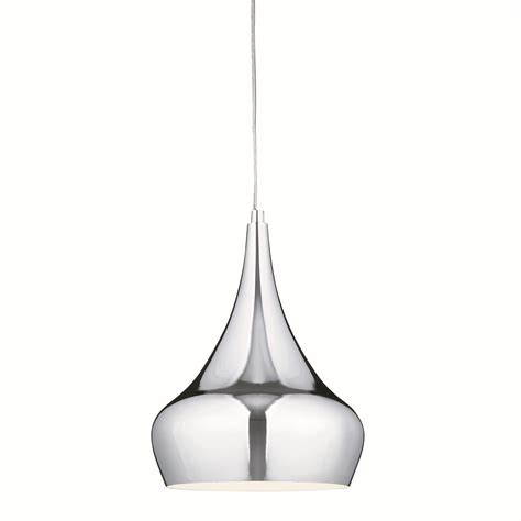 Modern Pendant Lighting Single Modern Pendant Light Chrome