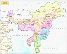 map of northeast road map only nh ministry of development of