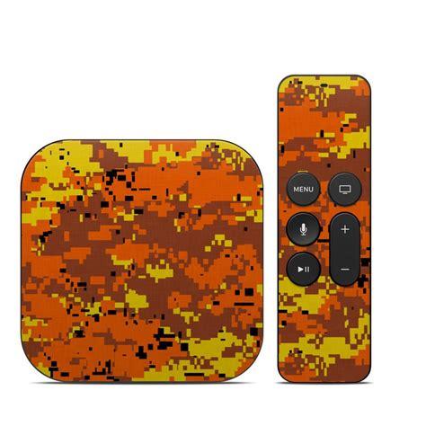 Digital Orange Tv apple tv 4th skin digital orange camo by camo
