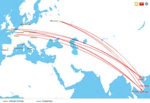airlines route map europe
