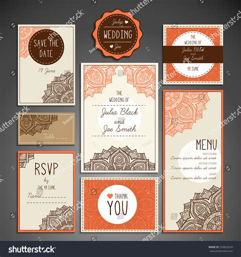 Wedding Card Collection by Wedding Card Collection Stock Vector 226822018