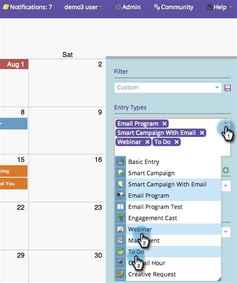 Marketing Calendar Docs Saving A Filter Definition In The Marketing Calendar