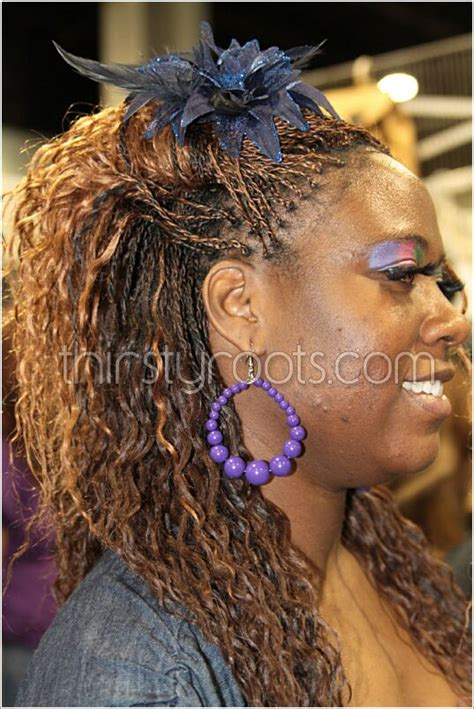 black braids hairstyles for women wet and wavy micro braids wet and wavy