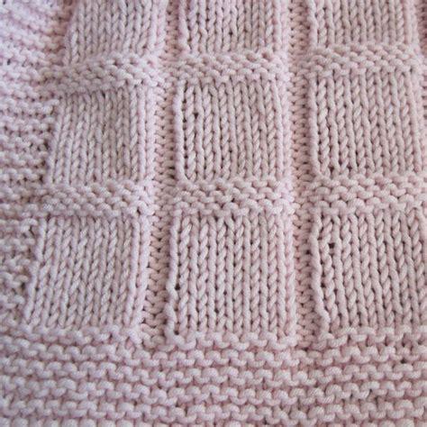 baby blanket knitting pattern beginner baby blocks blanket knit great for beginners