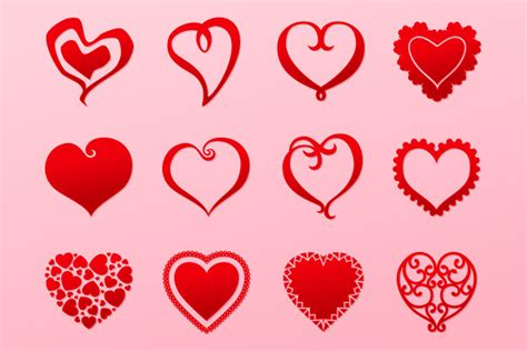 valentines day hearts vector pack  design panoply