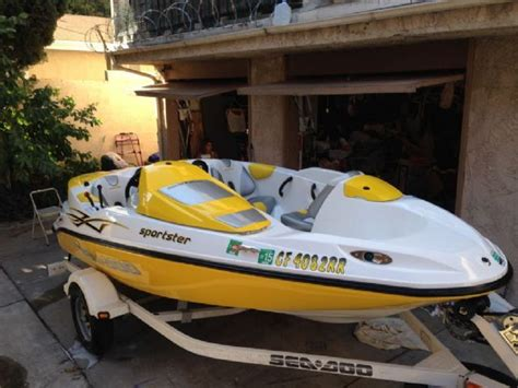 sea doo jet ski powered boat 15 feet 2006 sea doo speedster 150 jet boat yellow 40