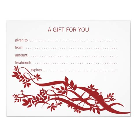 zen chic therapist gift certificate invite zazzle