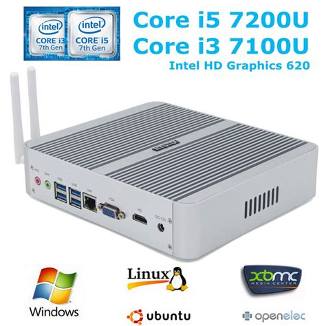 Rakitan Pc Based On Intel Kabylake I3 7100 7th kaby lake intel i5 mini pc 7200u i3 7100u windows 10 hd graphics 620 4k fanless