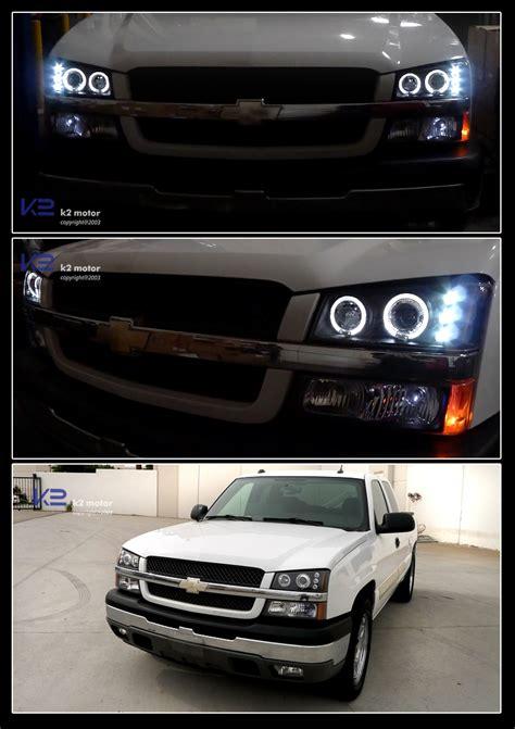 halo lights for chevy silverado 03 06 chevy silverado dual halo led projector headlights