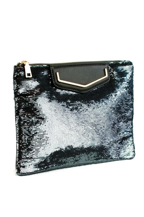 Clutch Fashion 1124 front sequins clutch with chain agp handbags apparel