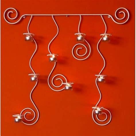 wandkerzenhalter holz weiss wandteelichthalter lysa wei 223 wandkerzenhalter aus metall