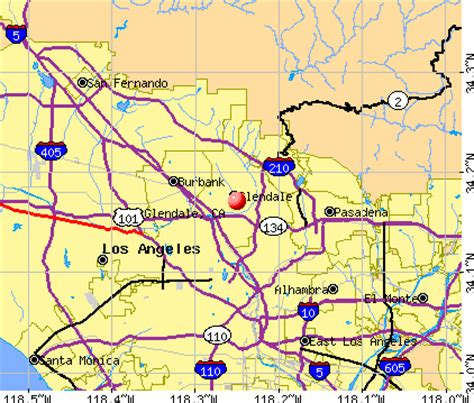 zip code map glendale ca glendale california map