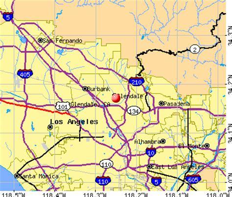 california map glendale glendale california map and glendale california satellite