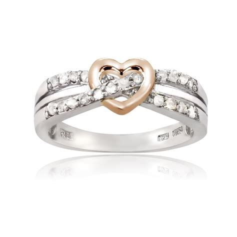 sterling silver 1 5ct tdw promise ring ebay
