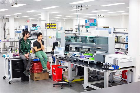 design lab works students tour biotechnology company learn science of