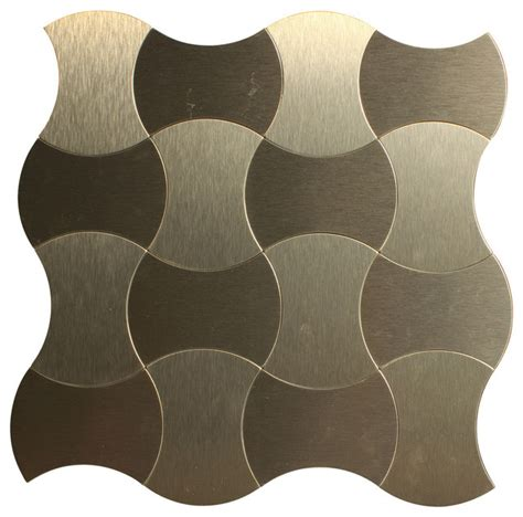 peel and stick backsplash tile with contemporary moroccan moroccan style aluminum peel and stick mosaic tile 11 quot x11