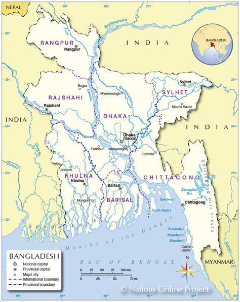 map of bangladesh political map of bangladesh nations project