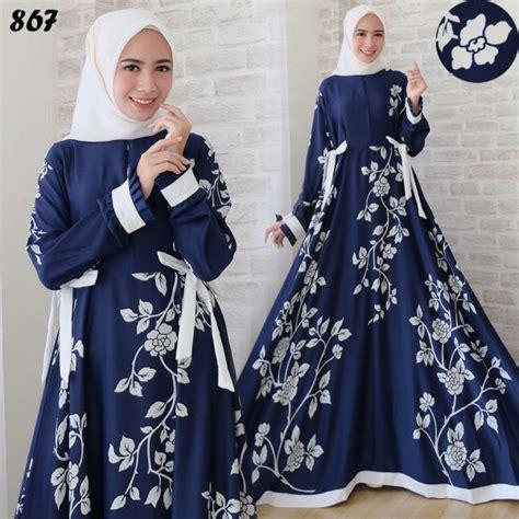 Baju Gamis Pesta Mawar Navy Set Maxi Maxy Dress gamis modern maxi maxmara c867 baju muslim remaja