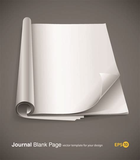 design journal blank set of journal blank page design vector free vector in