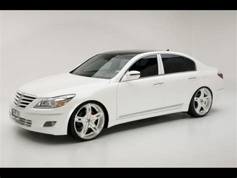 2009 Hyundai Dub Magazine Genesis Sedan White Front And