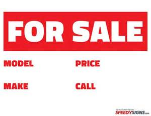 For Sale Sign Template by For Sale Signs To Print Free Free For Sale Model Make