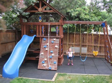 great   backyard playground safe play tiles