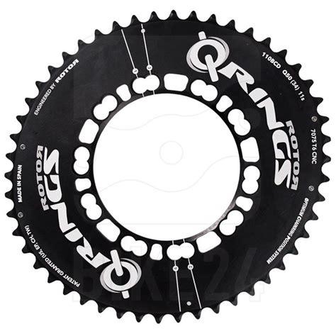 Q Ring Rotor Compact Qxl Bcd 110mm Black rotor q rings compact 5 arm 110 bcd aero road chainring oval black bike24