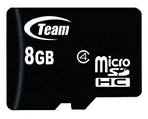 Memory Card Team team 8 gb micro sdhc memory card with sd adapter in retail packing 8gb tf