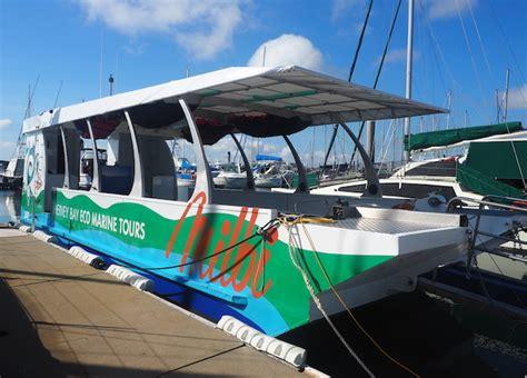 glass bottom boat hervey bay hervey bay eco marine tours sunshine coast