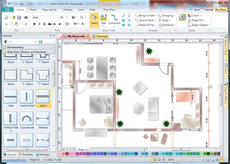 layout sketch software architect software with built in symbols