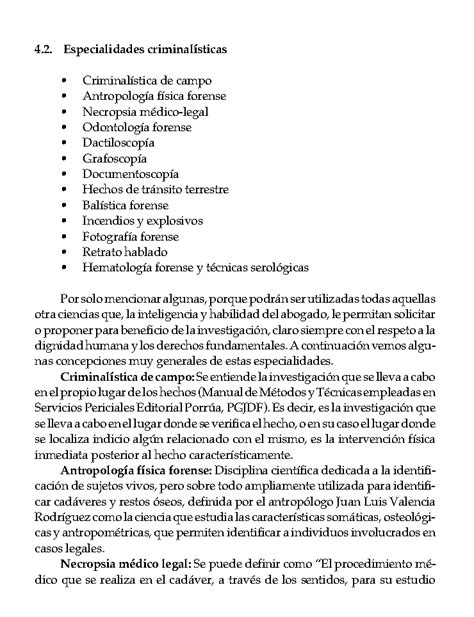 La criminalística en el proceso penal acusatorio (página 3