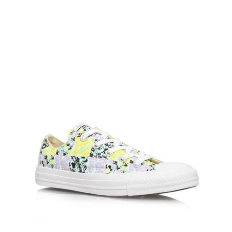 Converse Ct Low White 1 converse ct floral low in white lyst
