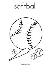 what color is a softball softball coloring page twisty noodle