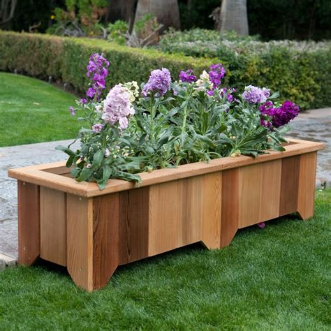 14 Best Images About Wooden Planters On Pinterest Raised Wooden Flower Planters