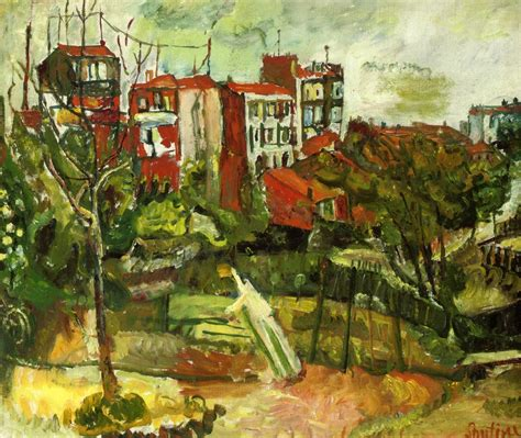 landscape with houses suburban landscape with red houses c 1917 chaim soutine wikiart org