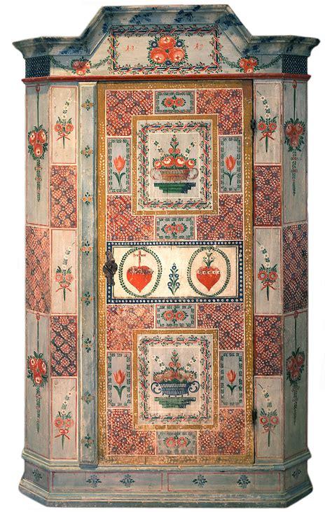 mobili tirolesi dipinti eccezionale armadio tirolese datato 1819 antichit 224 missaglia
