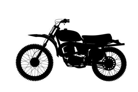 motorcycle motorbike silhouette  stock photo public